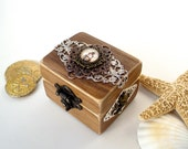 Engagement Ring Box - Nautical Wedding - Ring Bearer Box - Pirate Treasure Chest