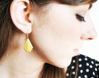 Small Art Deco Gold Earrings