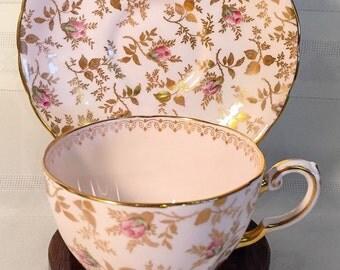 Tuscan England Floral Tea Cup and Saucer