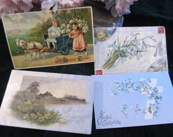 Vintage Easter Postcards Altered Art Scrap Booking Scrapbook