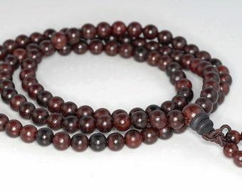 6mm 108PCS Red Rosewood Prayer Buddha Japa Mala Meditation Beads Round Loose Beads BULK LOT (90182446-391)