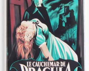 Horror of Dracula (France) Movie Poster Fridge Magnet