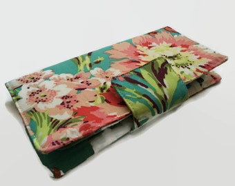 Women's Wallet, Floral Wallet, 38 Credit Card Holder, Card Wallet, Organizer Wallet, Money Wallet, Card Organizer, Women's Card Wallet