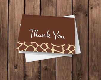 Giraffe Animal Print - Thank You Cards - Notecards - Stationery
