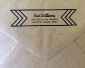 Custom Return Address Kraft Envelopes - Rustic Classic Modern Print Options - Sized for A7 5x7 Cards