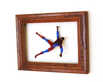 Spiderman in Motion Framed Art