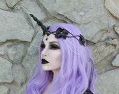 Black Unicorn Crown - headpiece
