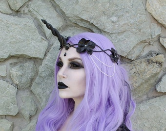Black Unicorn Crown - headpiece