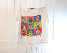 1991 Warhol Fred Flintstone shirt - Vintage Andy Warhol The Flintstones Tshirt - Change's L M