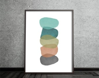 Contemporary, Abstract, Art, Poster, Print, Mid Century Modern, Geometric
