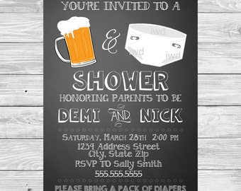 Beer and Diaper Party Invitation