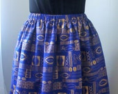 Plus Size African Gold Cowrie Shell Print Maxi Skirt with Pockets