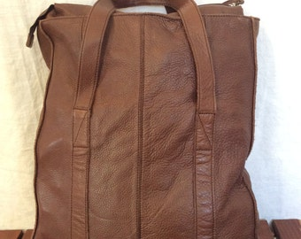 Genuine Vintage Banana Republic Brown Leather Satchel Bag