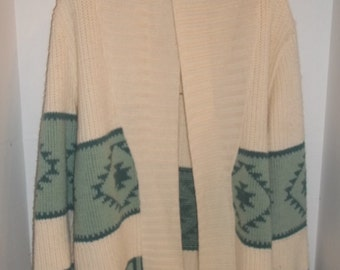 Vintage Southwestern Cardigan Sweater 1960s/1970s