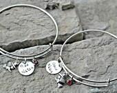 Witch Bracelets - Best Friend Bracelets - Sisters Bracelets - Set of TWO - Good Witch Bad Witch - Halloween Jewelry - Witch charm Bracelets