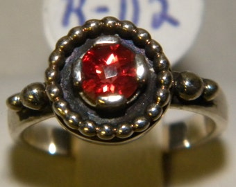 Sterling Silver Fire Citrine ring