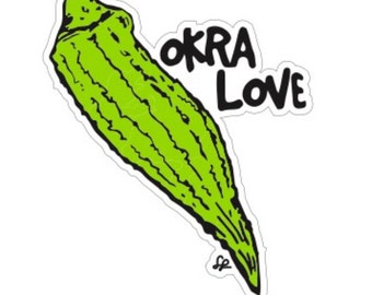 Okra Love Stickers !!