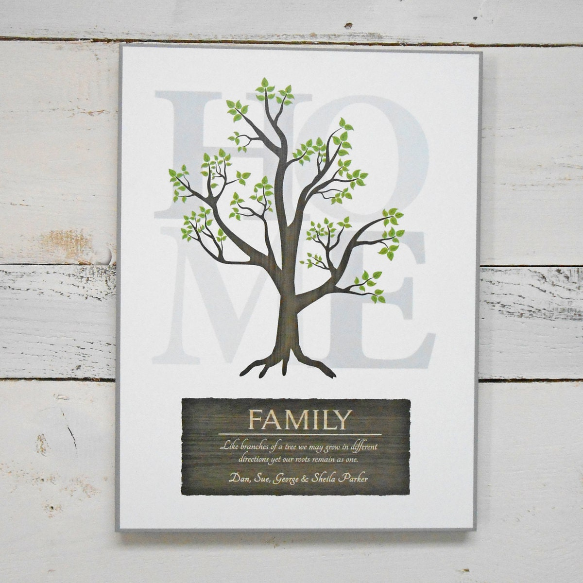 Custom Family Wall Decor : Personalized family wall decor home