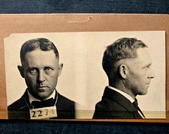 antique 1918 mug shots---original not reprints, before finger printing, scary stare