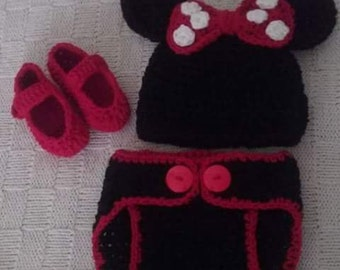Crocheted Minnie Outfit