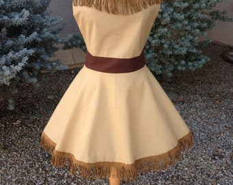 Pocahontas  full skirt apron