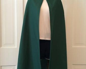 Hooded Cloak - Youth, Brown, Green, Navy, Black, Red, Cream, Gray, Orange, Pink, Blue
