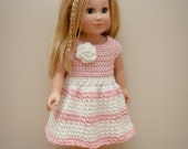 The Lucy Dress Crochet Pattern- American Girl Doll Crochet Patterns- INSTANT DOWNLOAD