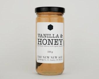 Organic Vanilla Bean infused in Raw Honey