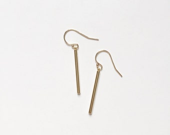 NEW Simple Delicate Gold Drop Earrings, Bridesmaids Gift, Gifts for Her