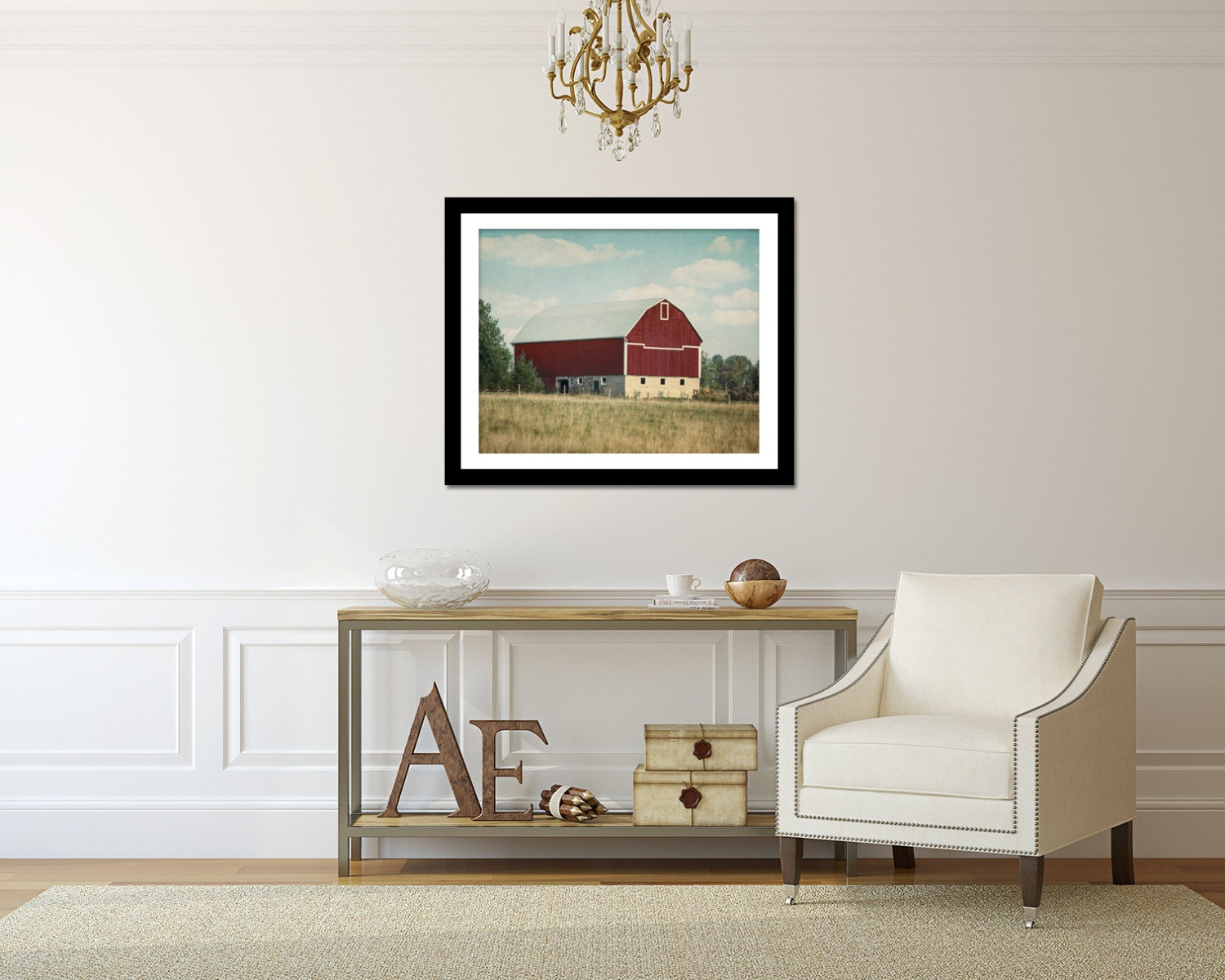 Red Barn Wall Decor : Rustic photography red barn wall art farmhouse by