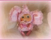Pink  Elephant  Cute Baby Doll,  Christmas Stocking Staffers , Little Toy Christmas Stocking Filler, Cute Baby Doll for home