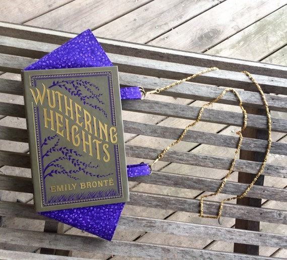 Wuthering Heights by Emily Bronte - BOOK PURSE - ready to ship