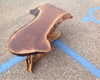 Black Walnut coffee table natural edge