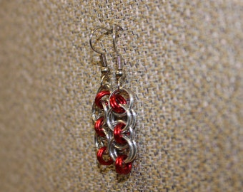 Red helm earrings