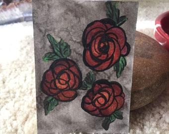 Roses Mini Art Card