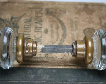 Vintage Clear Glass Door Knobs
