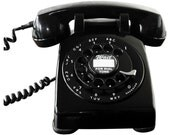 Vintage Black Bell Systems 500 Series Telephone, Near Mint, Working, Beautiful