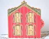 Avon's House of Charm, Pink Dollhouse, 1950s Christmas Gift Box, Vintage Perfume Bottle Display, Wild Rose, Cotillion, Golden Promise
