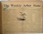 1937 Bound Newspaper Collection Wymore Nebraska History Weekly Arbor State, Genealogy Research, Vintage Advertising, Beatrice Nebraska