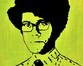 Maurice Moss (The IT Crowd)Inspired Richard Ayoade Painting Art Print