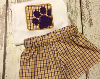 LSU  Tiger Paw set for boys