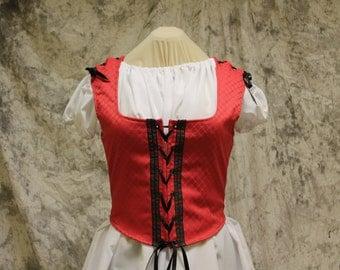 Red Renaissance Costume-Halloween Costume-Medieval Dress-LARP-Ren Fair-Steampunk-SCA-Adult Costume-Medieval Clothing-Fantasy Dress-Item #209