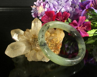 Vintage Jadeite Jade Bangle, Jade Bracelet, Jade Jewelry, Jadeite Bangle, Vintage Bracelet, Ethnic Jewelry, Statement Bracelet, Fine Jewelry