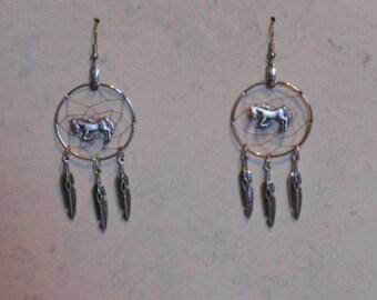Handcrafted Horse Dreamcatcher earrings