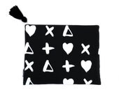 Nappy Clutch Diaper Clutch Cross My Heart Noir