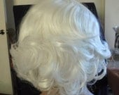SPRING SALE - Marilyn Monroe Style - Platinum Blonde - Hair Piece - Short Curly Bangs - 13 Inches - Emo - Rockabilly - Daily Wear - Durable