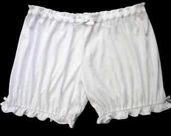 Custom Size White Womens Bloomers
