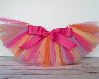 Hot pink, purple, yellow, orange tutu Akeisha carnival tutu toddler tutu size 2 3 4 photo prop birthday tutu 2T 3T 4T toddler tutu skirt