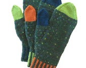 CUSTOM ORDER for DEB Mittens, Three Mittens, Unique Mittens, Hand Knit Mittens, Knitted Gloves, Stylish Mittens