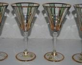 Italian crystal wine glasses  cut crystal  lead crystal  glasses